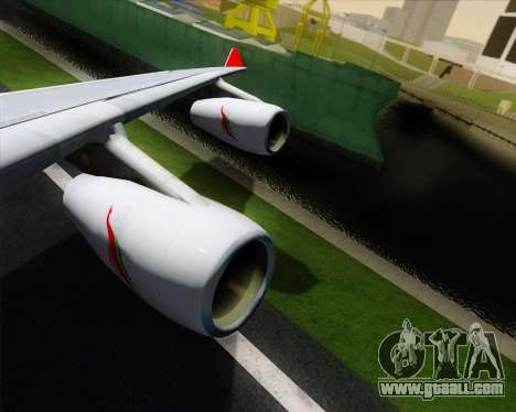 Airbus A340-313 SriLankan Airlines for GTA San Andreas bottom view