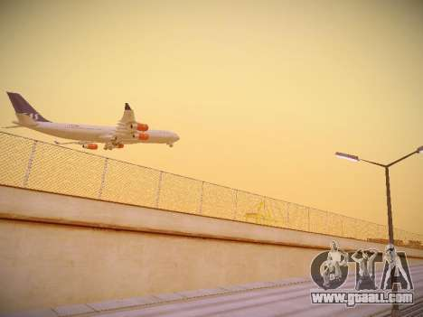 Airbus A340-300 Scandinavian Airlines for GTA San Andreas right view