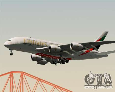 Airbus A380-841 Emirates for GTA San Andreas engine