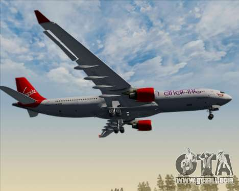 Airbus A330-300 Virgin Atlantic Airways for GTA San Andreas bottom view