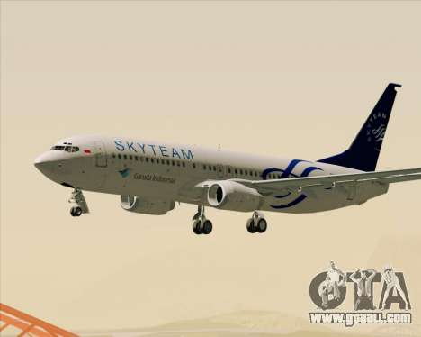 Boeing 737-86N Garuda Indonesia for GTA San Andreas interior