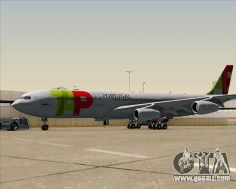 Airbus A340-312 TAP Portugal for GTA San Andreas back view