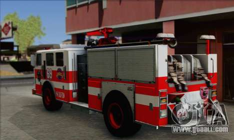 SAFD BRUTE Firetruck for GTA San Andreas left view
