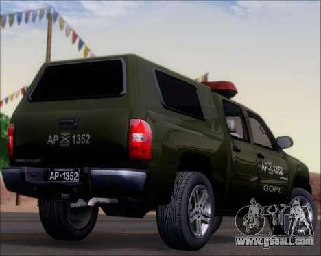 Chevrolet Silverado Gope for GTA San Andreas upper view
