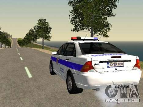 Ford Focus Police Nizhny Novgorod region for GTA San Andreas back left view