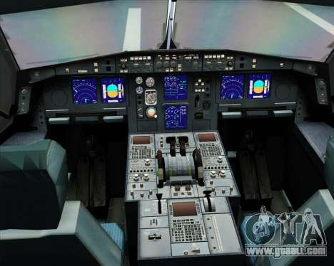 Airbus A330-300 Northwest Airlines for GTA San Andreas interior