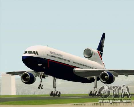 Lockheed L-1011 TriStar British Airways for GTA San Andreas back view