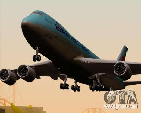 Boeing 747-8 Cargo Korean Air Cargo for GTA San Andreas wheels