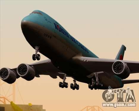 Boeing 747-8 Cargo Korean Air Cargo for GTA San Andreas wheels