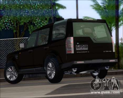 Land Rover Discovery 4 for GTA San Andreas back left view