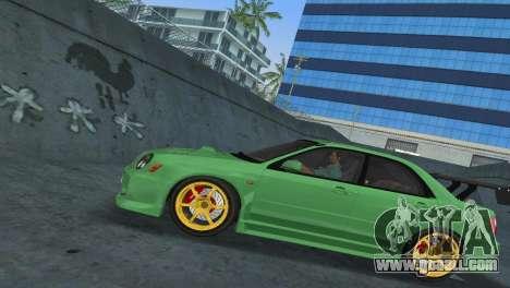Subaru Impreza WRX 2002 Type 3 for GTA Vice City right view