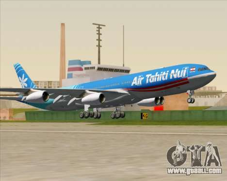 Airbus A340-313 Air Tahiti Nui for GTA San Andreas inner view
