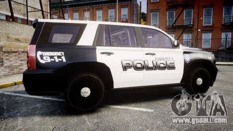 Chevrolet Tahoe 2015 Liberty Police [ELS] for GTA 4 left view