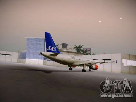 Airbus A319-132 Scandinavian Airlines for GTA San Andreas back view