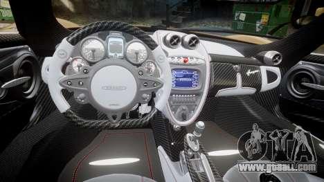 Pagani Huayra 2013 for GTA 4 inner view