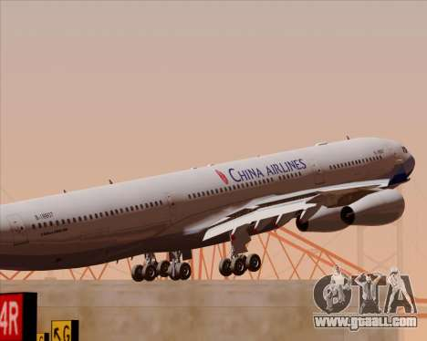 Airbus A340-313 China Airlines for GTA San Andreas engine