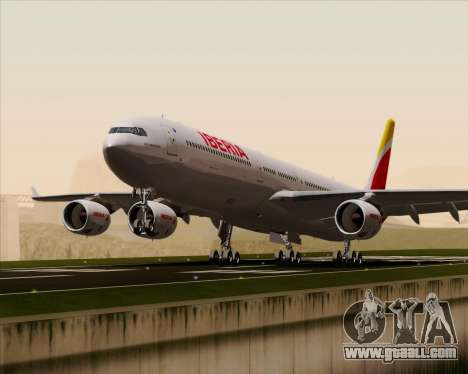Airbus A340-642 Iberia Airlines for GTA San Andreas