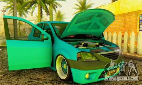 Dacia Logan Elegant for GTA San Andreas back view