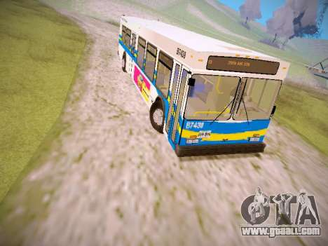 NewFlyer D40LF TransLink Vancouver BC for GTA San Andreas left view