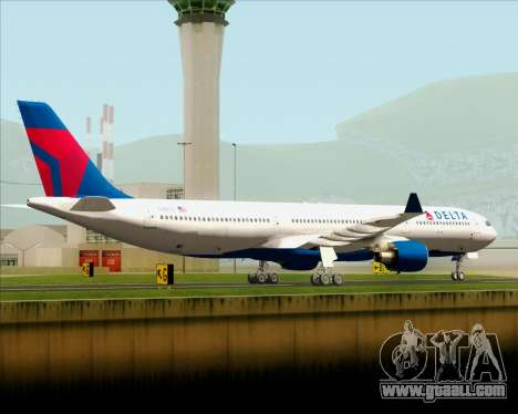 Airbus A330-300 Delta Airlines for GTA San Andreas back left view