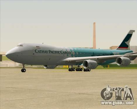 Boeing 747-8 Cargo Cathay Pacific Cargo for GTA San Andreas left view
