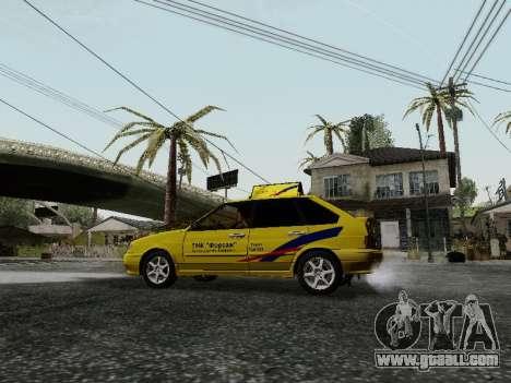 VAZ 2114 TMK afterburner for GTA San Andreas back view