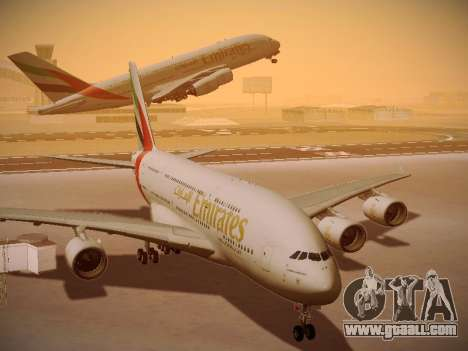 Airbus A380-800 Emirates for GTA San Andreas inner view