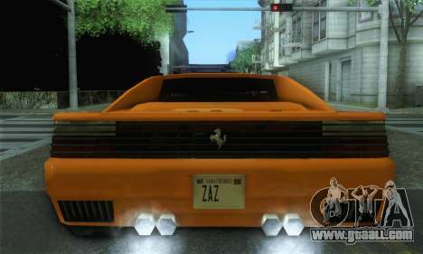 Cheetah Testarossa for GTA San Andreas back left view
