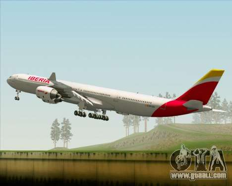 Airbus A340-642 Iberia Airlines for GTA San Andreas upper view