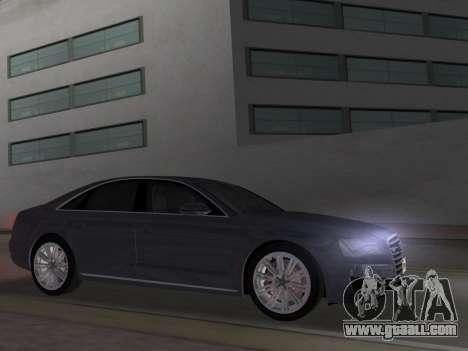 Audi A8 2010 W12 Rim1 for GTA Vice City left view