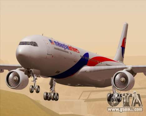 Airbus A330-323 Malaysia Airlines for GTA San Andreas