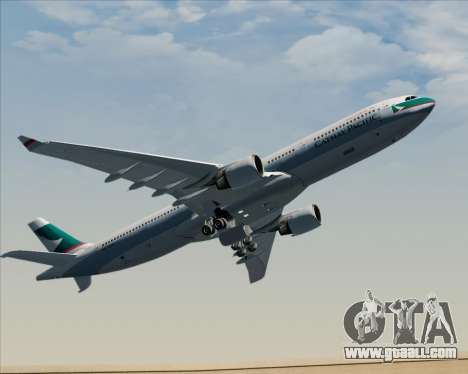 Airbus A330-300 Cathay Pacific for GTA San Andreas upper view