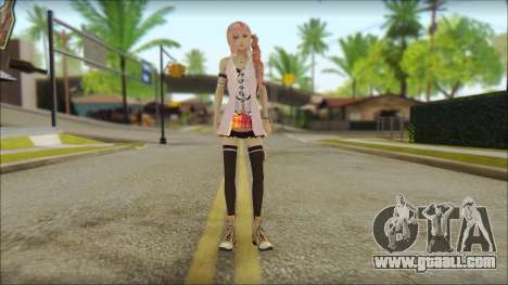 Sarah from Final Fantasy XIII for GTA San Andreas