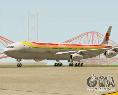 Airbus A340 -313 Iberia for GTA San Andreas left view