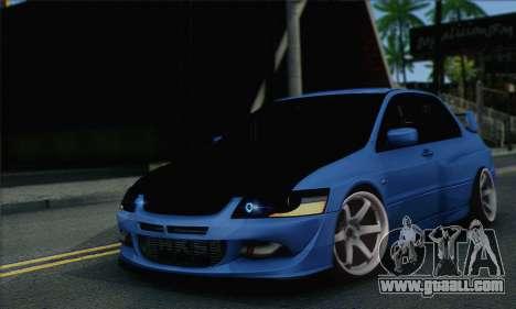 Mitsubishi Lancer Evolution IIX for GTA San Andreas
