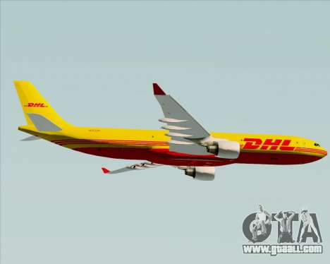 Airbus A330-300P2F DHL for GTA San Andreas back view