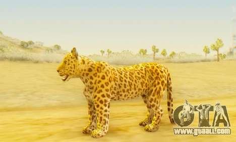 Leopard (Mammal) for GTA San Andreas second screenshot