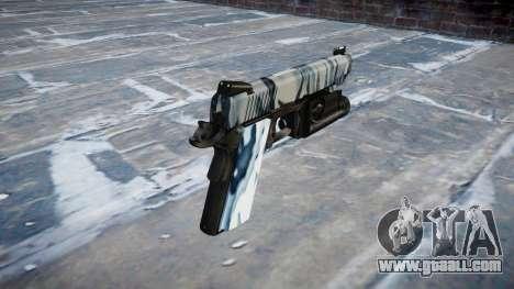 Gun Kimber 1911 Skulls for GTA 4 second screenshot