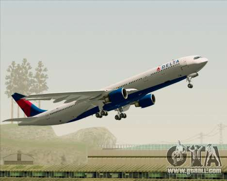 Airbus A330-300 Delta Airlines for GTA San Andreas bottom view