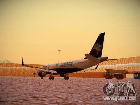 Embraer E190 Azul Tudo Azul for GTA San Andreas back left view