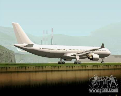Airbus A330-300 Full White Livery for GTA San Andreas back left view