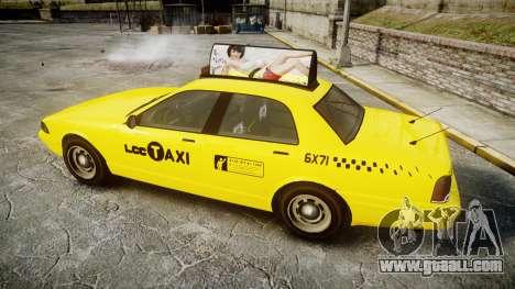 GTA V Vapid Taxi LCC for GTA 4 left view
