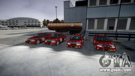 Mitsubishi Lancer Evolution VI Rally for GTA 4 back view