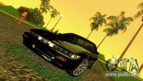 Nissan Silvia S13 RB26DETT Black Revel for GTA Vice City left view