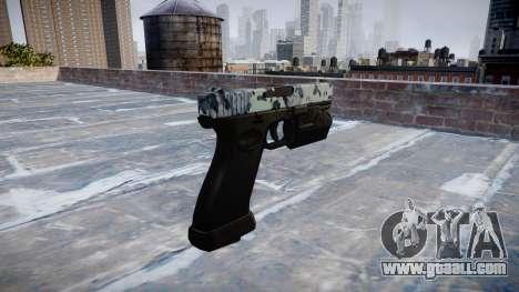 Pistol Glock 20 skulls for GTA 4 second screenshot