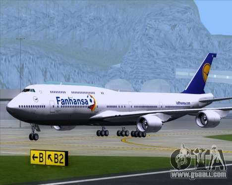 Boeing 747-830 Lufthansa - Fanhansa for GTA San Andreas inner view