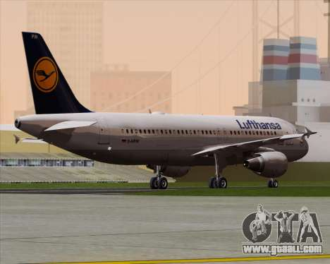 Airbus A320-211 Lufthansa for GTA San Andreas right view
