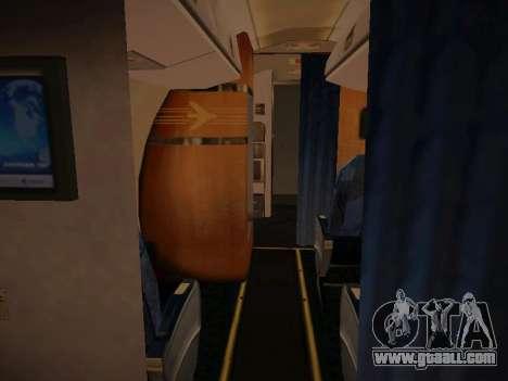 Embraer E190 Azul Tudo Azul for GTA San Andreas inner view