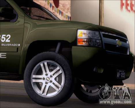Chevrolet Silverado Gope for GTA San Andreas side view