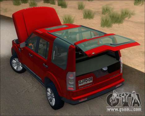 Land Rover Discovery 4 for GTA San Andreas side view